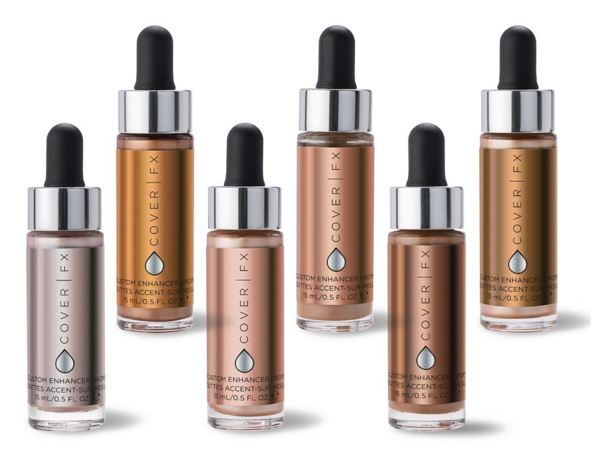 CUSTUM ENHANCER DROPS, DE COVER FX, LES HIGHLIGHTERS QUI AFFOLENT LES BEAUTYSTAS