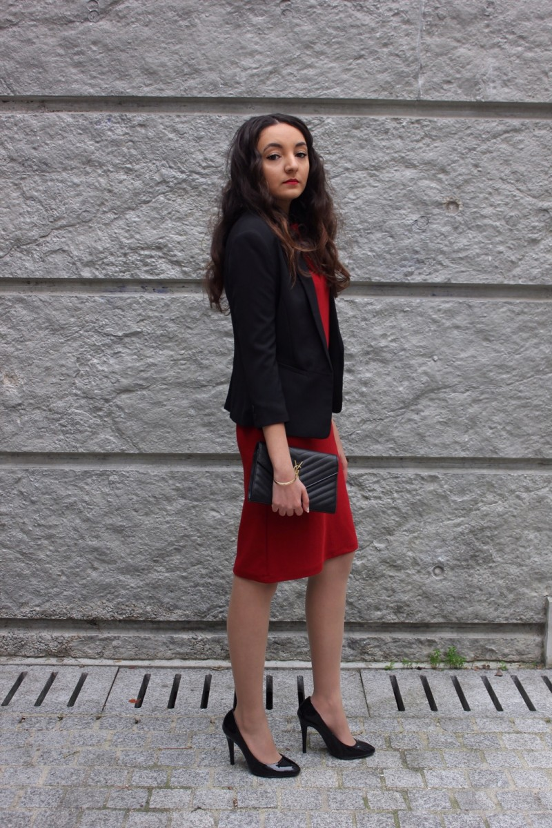 RED DRESS & BLAZER